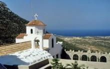Blick auf das Frauenkloster auf Patmos, Juni 1994