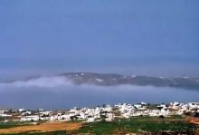 Der Nebel steigt auf bei Pyrgos, 21.6.