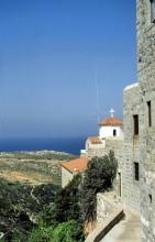 Ausblick vom Frauenkloster, Patmos, Juni 1994