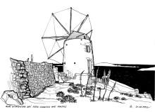 Alte Windmühle bei der Agia Marina auf Kassos, 20.9.