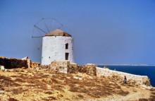 Unbenutzte Windmühle auf Kassos, 20.9.1992