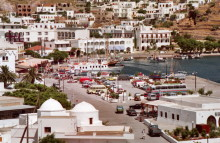 Hafenblick, Skala auf Patmos, Juni 1991