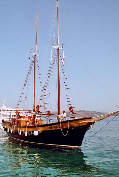 Die Caldera Tour, unser Schiff, 23.6.1996