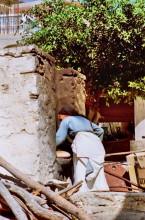 Brotbacken in Diafani auf Karpathos, 22.9.
