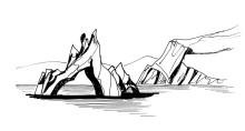 Naturskulpturen in der Thermia Bucht, 29.6.