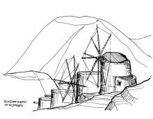 Windmühlen in Olympos, 22.9.