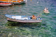 Fischerboot in Skala, Juni 1994