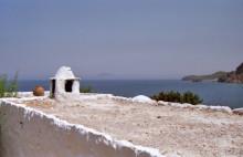 Ausblick bis nach Samos von der Einsiedelei in der Thermia Bucht, 29.6.