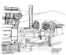 Das Heraion auf Samos, 3.7.1991