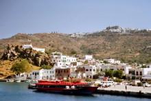 Abfahrt von Patmos, 17.6.1994