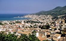 Blick über Vathi auf Samos, 19.6.