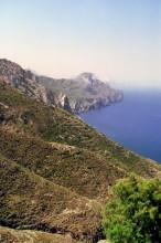 Ausblick von  Olympos zur Westküste von Karpathos, 13.6.