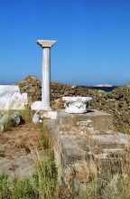 Die Reste vom Agia Fotini Tempel, 16.6.1998