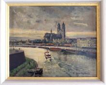 Magdeburg, Domblick, von Kurt Schreckenbach, 1913