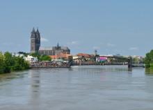 Blick auf die Elbe von der Sternbrücke, Juni 2013