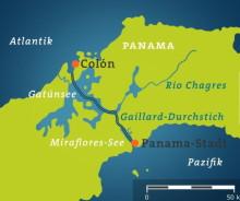 Plan vom Panama Kanal (Quelle: Tagesschau)