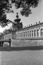 Als Studentin in Dresden, der Zwinger, 1953