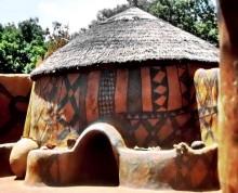 Lehmarchitektur im Norden Ghanas, 1966