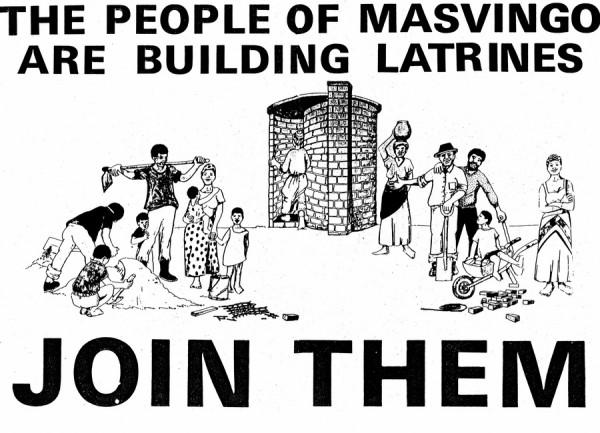 Das Latrinenbauprogramm in Masvingo, 1984