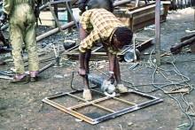 Fensterrahmenproduktion in Mbare, 1985