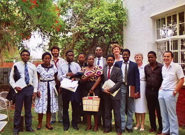 "Das ""ZOPP"" Team in Harare, 1987"