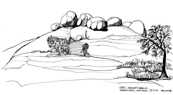 View of the World mit dem Grab von Cecil Rhodes