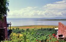 Blick von den Bumi Hills Chalets auf den Karibasee, 1988