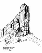 "Zum ""Heaven's Gate"" oberhalb der Lodge, 1999"