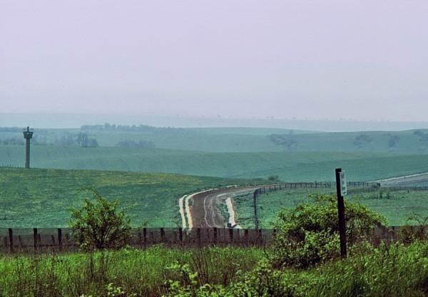 Blick auf die deutsch-deutsche Grenze, 1978