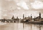 Silhouette von Dresden, Postkarte von 1930