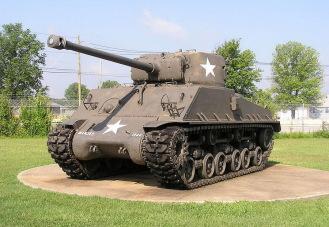 Amerikanischer Sherman Panzer (Quelle Bundesarchiv)