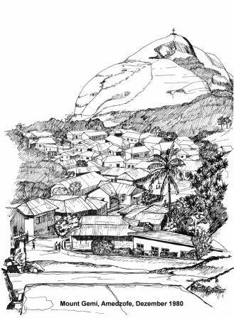 Amedzofe und der Mount Gemi, 1980