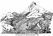 Der Mount Gemi oberhalb von Amedzofe, 1980