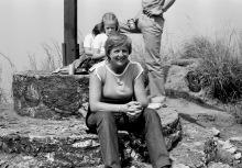 Am Gipfelkreuz auf dem Mount Gemi, Ostern 1981