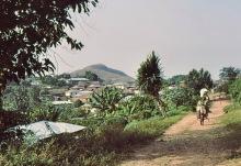 Blick zum Mount Gemi von Amedzofe, 1981