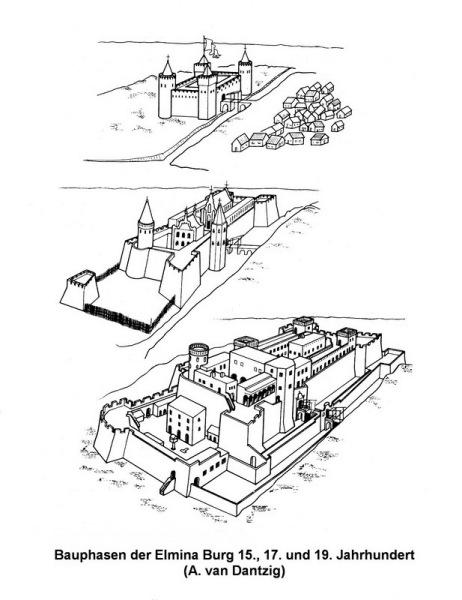 Die Bauphasen der Burg St. Georges in Elmina (A. van Dantzig)