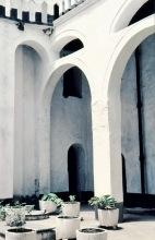 Der Sklavenhof im Elmina Castle,  1962