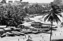 Blick auf Hafen und Bucht bei Elmina,  1982