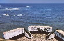 Ausblick vom Fort St. Antonio in Axim, 1974