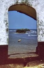 Blick auf Bobo Yesi vom Fort in Axim, 1974