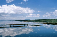 Natrongewinnung im Magadi See, 1989