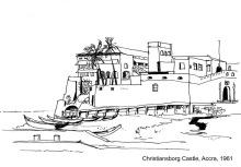Das Christiansborg Castle in Accra, 1961