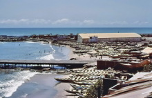 Der alte Fischerhafen von Accra, 1962