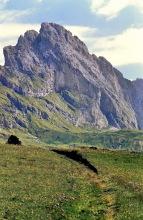 Zum Cuca Sattel mit Blick auf die Große Fermeda
