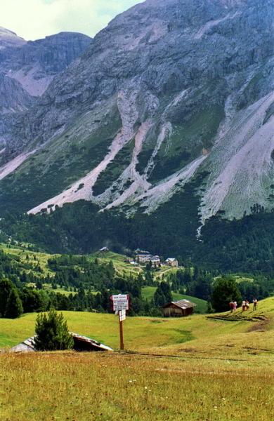 Weg zur Regensburger Hütte vom Col Raiser Lift, 30.7.