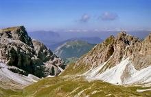 Blick von der Roa Scharte zum Pic Berg, 31.7.