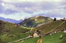 Blick zum Pic Berg auf dem Weg zur Pana Scharte, 6.7.
