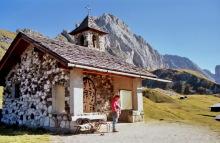 Die kleine Kapelle auf der Troier Alm, 19.9.