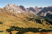 Blick vom Pic Berg Gipfel auf die Geisler Spitzen, 19.9.