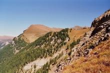 Blick zur Seceda vom Pic Berg Gipfel, 19.9.